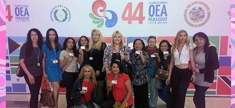 """Por octava vez en la historia, REDLACTRANS reclama  por el cumplimiento de los derechos humanos de la población trans en la 44°Asamblea General de la OEA """"Desarrollo con inclusión social"""""""