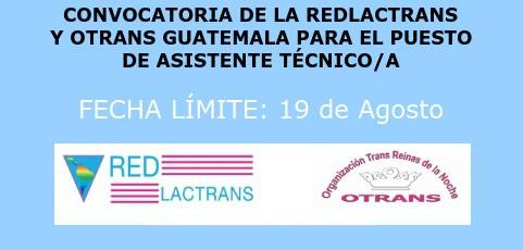 REDLACTRANS Y OTRANS GUATEMALA EXTIENDE LA CONVOCATORIA PARA EL PUESTO DE ASISTENTE TECNICO/A
