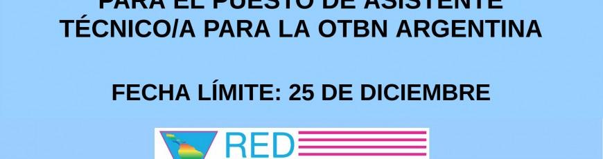LA REDLACTRANS Y ATTTA ABREN LA CONVOCATORIA PARA EL PUESTO DE ASISTENTE TÉCNICO/A PARA LA OTBN ARGENTINA