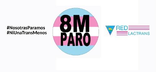 #8M la REDLACTRANS estuvo presente en toda Latinoamérica y el Caribe